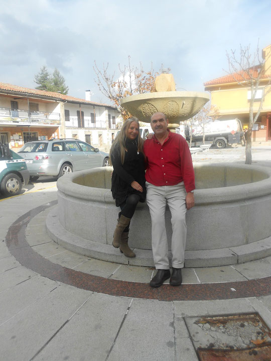 Con mi primo Carlos en Sorihuela.