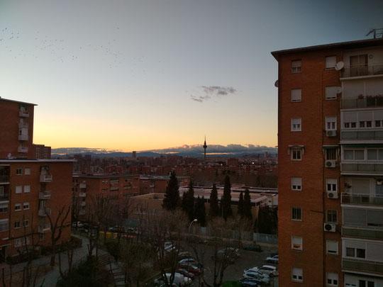 Ocaso en Madrid.