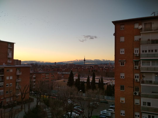 Ocaso en Madrid. F. Merche. P. Privada.