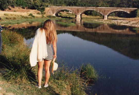 El río, limpísimo.