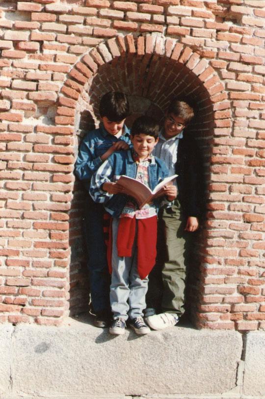 Con Rubén y Sergio. F. Merche. P. Privada.