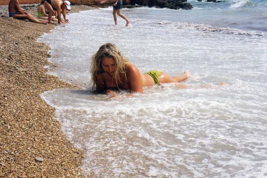 Aterrizaje en la playa. F. Pedro. P. Privada.