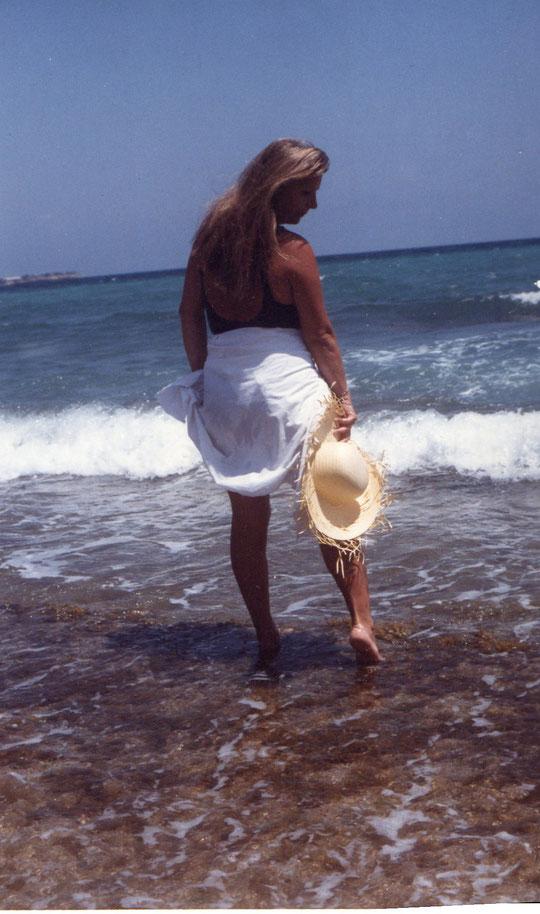 La playa estaba desierta........