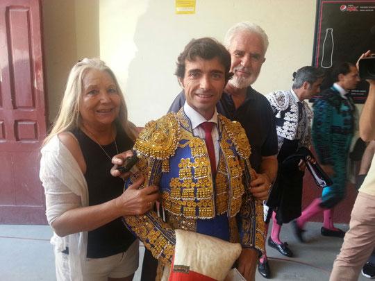 Con Robleño en las Ventas. F. Luis. P. Privada.