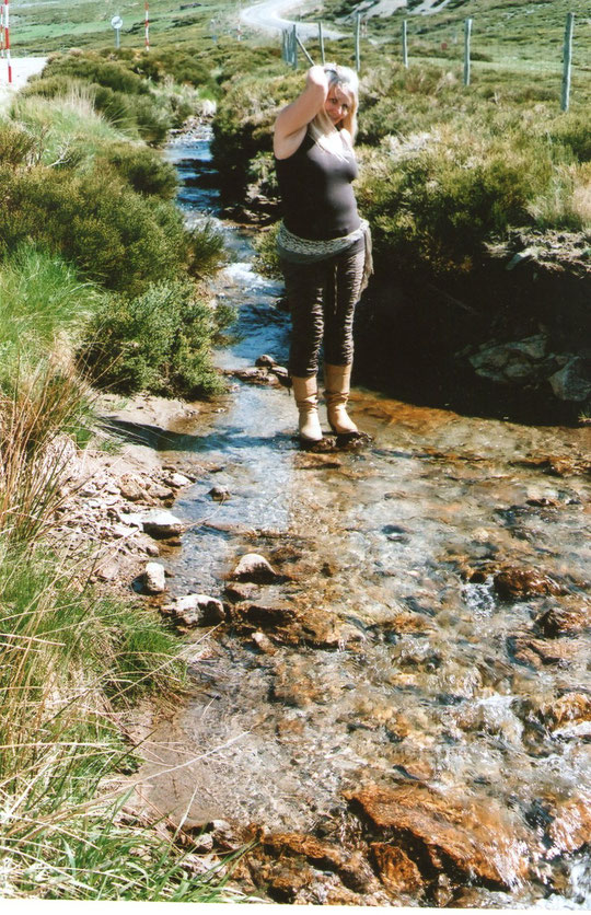 Subiendo a la Covatilla, hay unos arroyuelos con un agua increiblemente cristalina.