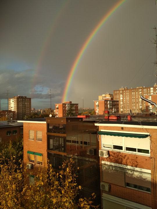 ¡ Espectacular arcoiris visto desde mi casa ! F. Merche.