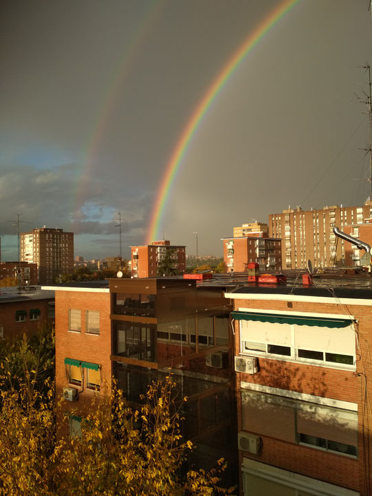 ¡ Espectacular arcoíris visto desde mi casa ! F. Merche. P. Privada.