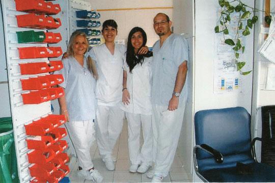 Con nuestras alumnas. F. Pedro. P. Privada.