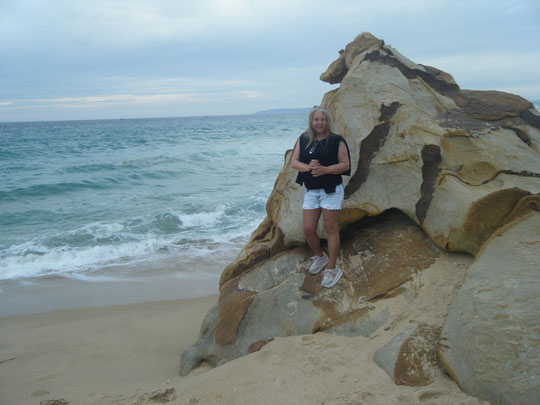 Bonitas rocas en la playa.