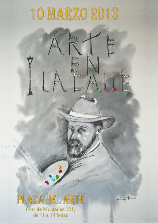 """Cartel de Pedro para """" Arte en la calle """" Madrid 2013."""