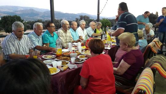 De cena en la Puebla. F. Merche.