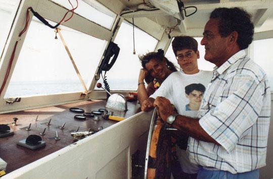 Charlando con el capitan. F. Pedro.