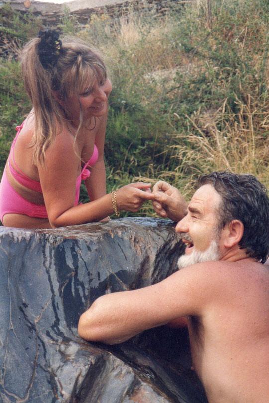 Momentos divertidos con mi marido en el río. F. Javi. P. Privada.