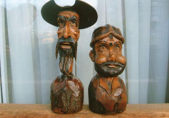 Quijote y Sancho.