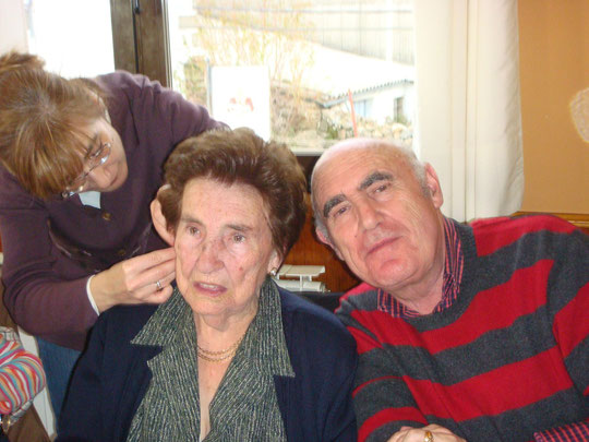 Tia Bibiana y Jose. ¡ que guapa está mi tia !................ Y el primo también.