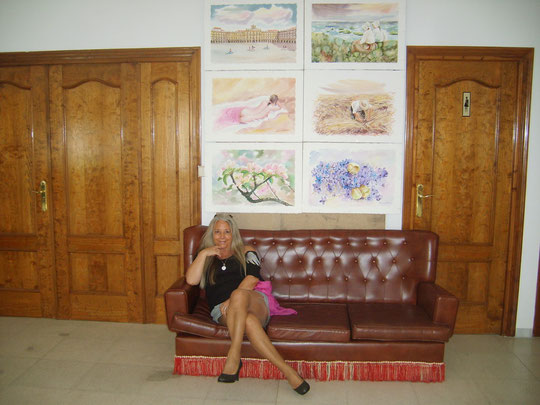 Exposición de Pedro en Ledrada . Año 2011.