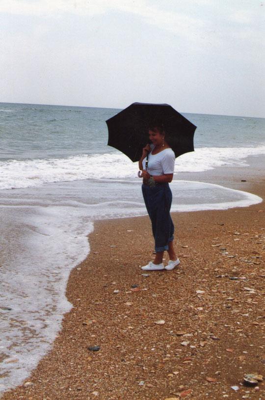 Lluvia en Lepe. F. Pedro.