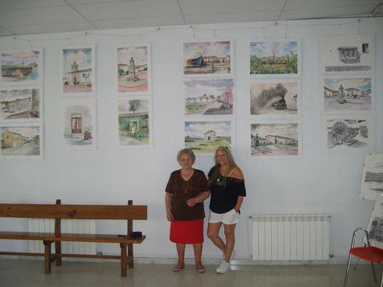 Exposición de Pedro en Fuentes de Bejar 2011.