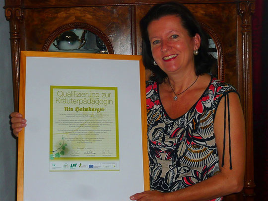 Zertifikat zur Kräuterpädagogik (2011)