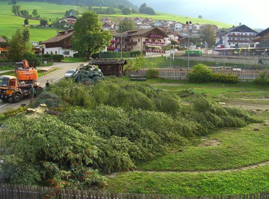 25.08.2009 Platz weg - campo non c'é piú