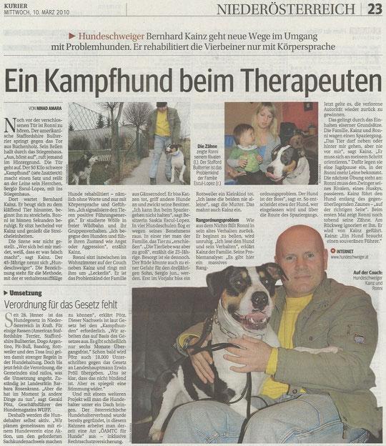 """Kurier: Hundeschweiger & """"Kampfhund"""""""