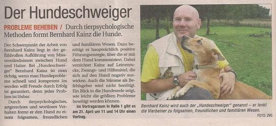 "NÖN -Der Hundeschweiger ""Haustier im Mittelpunkt"""