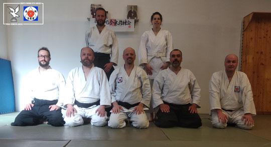 Da sx in alto: Ivan Castilla Lopez, Silvia D'Arrigo, Mattia Carniel, Mauro Tomè, Ermanno Passalenti, Enrico Neami e Alessandro Ortalli.
