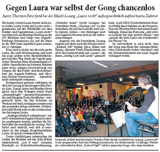 Lesung am APG - RNZ 22.12.2010