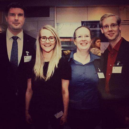 Auf dem Neujahrsempfang der IHK zu Lübeck: Dennis S. Klimek, Julia Podzins, Susi und Dirk Bornholdt (von links)