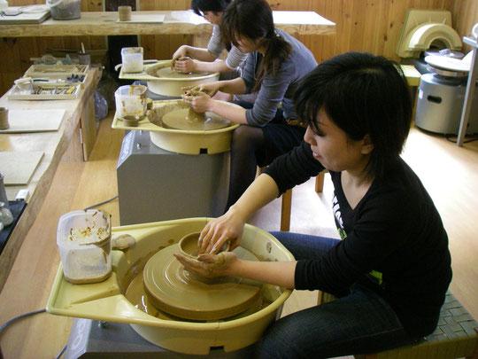 ロクロ作陶