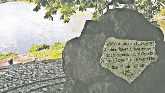 Weserstein in Hann. Münden (Kristin Fricke)