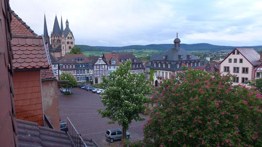 Historischer Fachwerkstadtkern von Gelnhausen, Blick aus meinem Hotelfenster