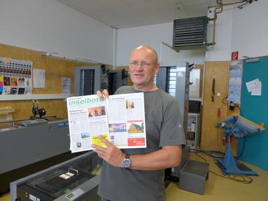 Hier wird der Spiekerooger Inselbote gedruckt. Die Werkstatt wurde mir von Ulli in Zierenberg gezeigt.