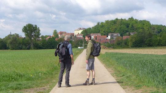 Mit meinen 2 Mitwanderern heute, Martin aus dem Odenwald und Hans Wilhelm hatte ich richtig Spaß
