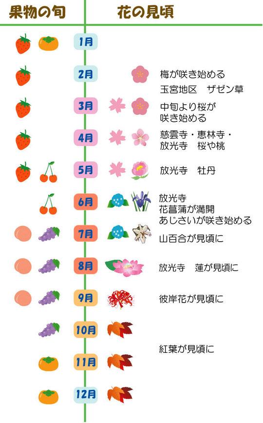 果物と花の旬