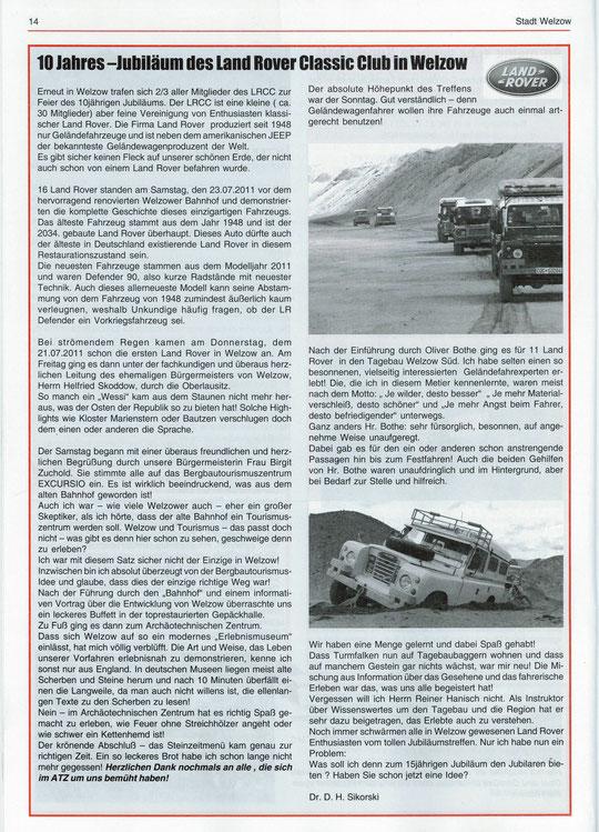 Amtsblatt-  Welzower Bote 11.2011