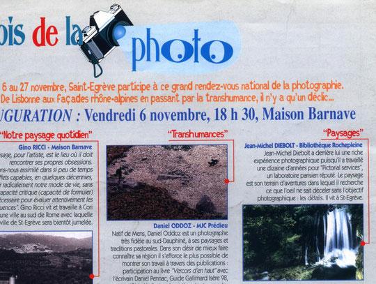 Mois de la photo- 6 au 27 novembre 1998