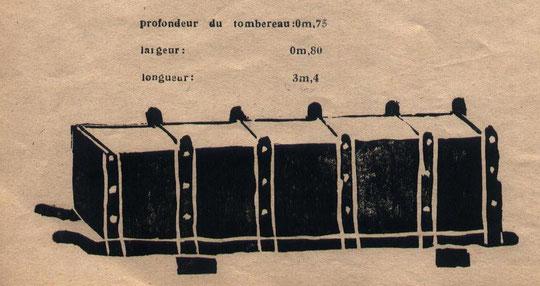 """Un tombereau... dessiné par des enfants en 1948. Publié dans """"L'écho de Proveysieux""""."""