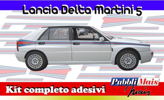 kit completo martini 5 lancia delta evo evoluzione 16v fasce livrea strisce 1992 1992 spedizione sticker decal pubblimais