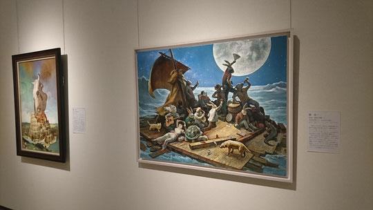 笠間日動美術館「オマージュ!パロディ!!画家は名画にそそられる。」 原太一による作品の展示風景