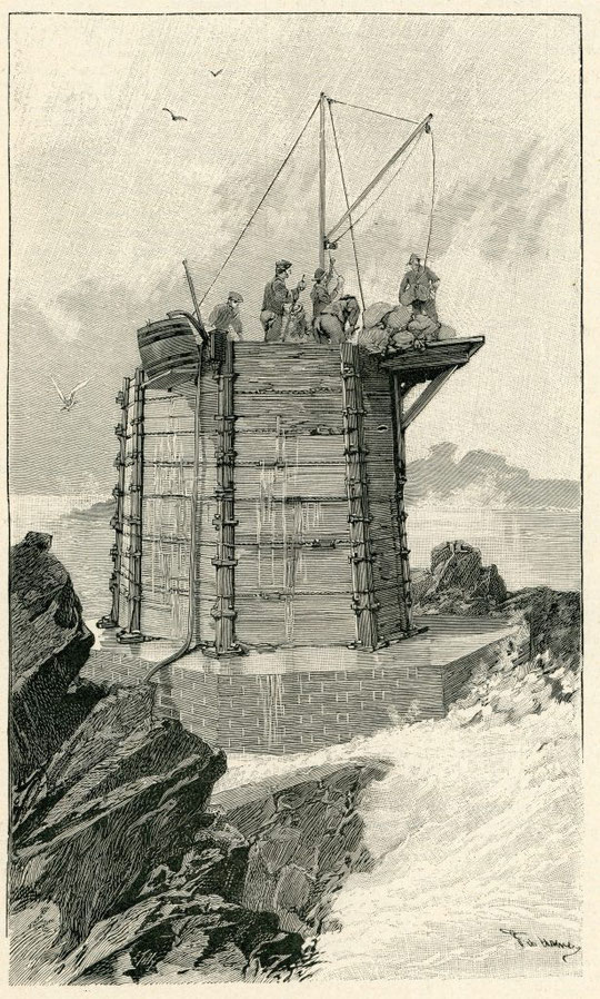 La construction de la Horaine (l'Illustration coll perso)
