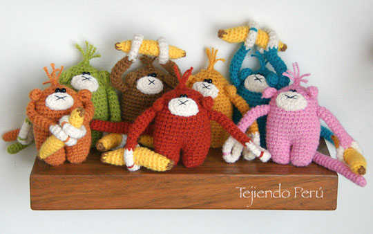 Amigurumi: monos (crochet)!