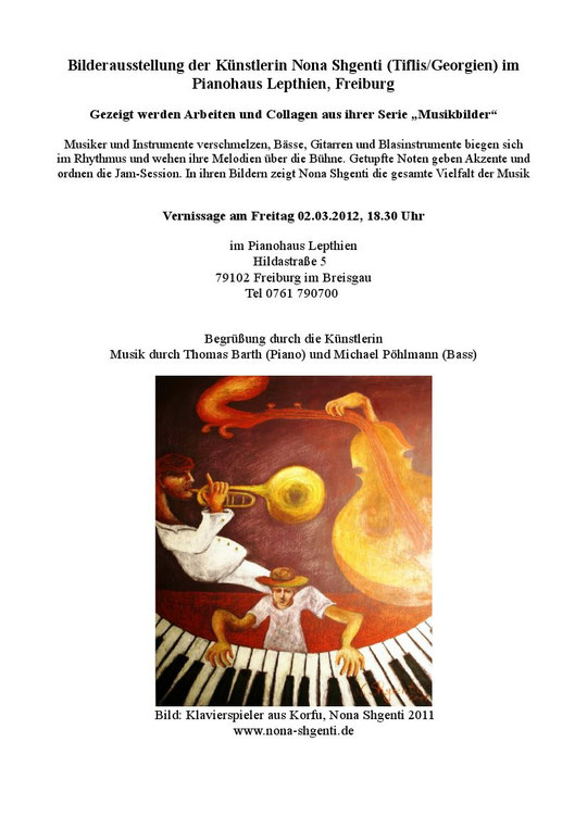 Flyer Ausstellung Pianohaus Lepthien