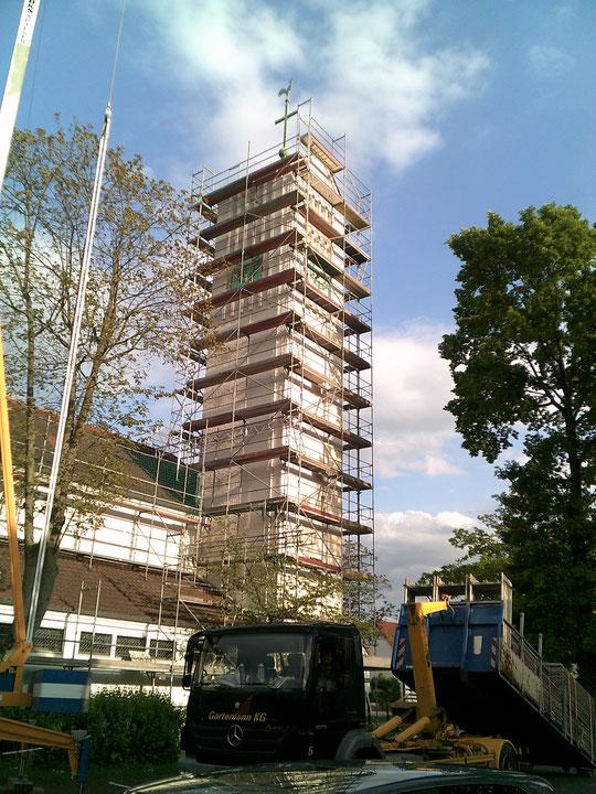 Bielefeld. Kirche St. Bonifatius Dach- und Fassadenarbeiten.