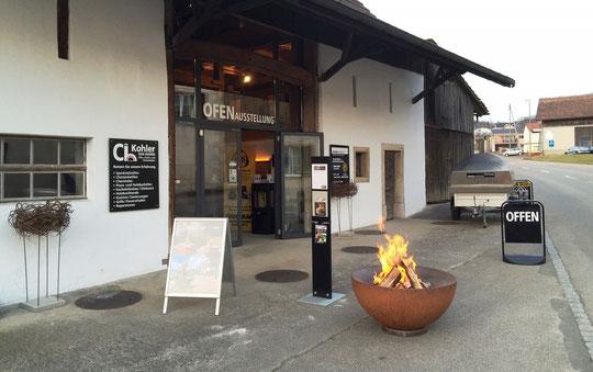 feuerkugel noun an der Ausstellung von CH. Kohler Ofenbau Feuer design