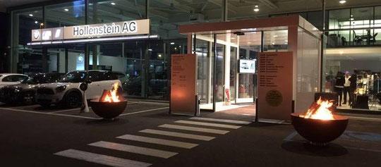 feuerkugel noun an der Modeschau der Garage Hollenstein AG