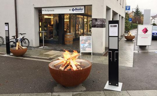 feuerkugel noun - an der Ausstellung bei Schönenberger Schuhmode in Sissach