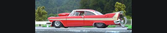 ダンバリーミント製 1958 Plymouth Fury  Pro  Street