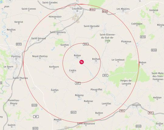 Zones géographiques 1, 2 et 3