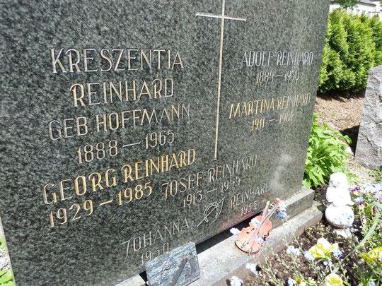 Namen und Lebensdaten von in der NS-Zeit verfolgten Mitgliedern der Familie Reinhard in Burladingen, Foto: Manuel Werner, alle Rechte vorbehalten!